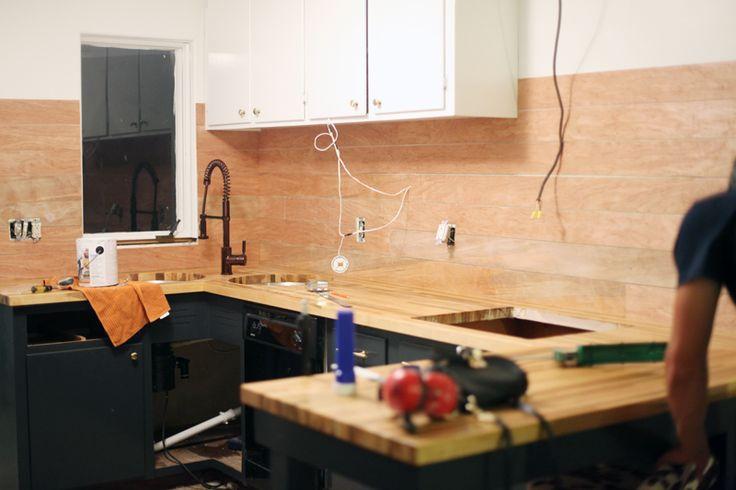 How To Make An Inexpensive Plank Backsplash Plywood