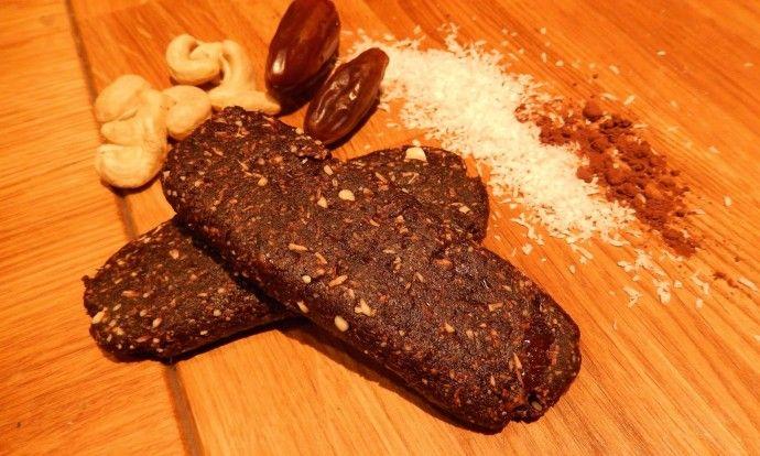 Raw kakaovo-kokosové tyčinky