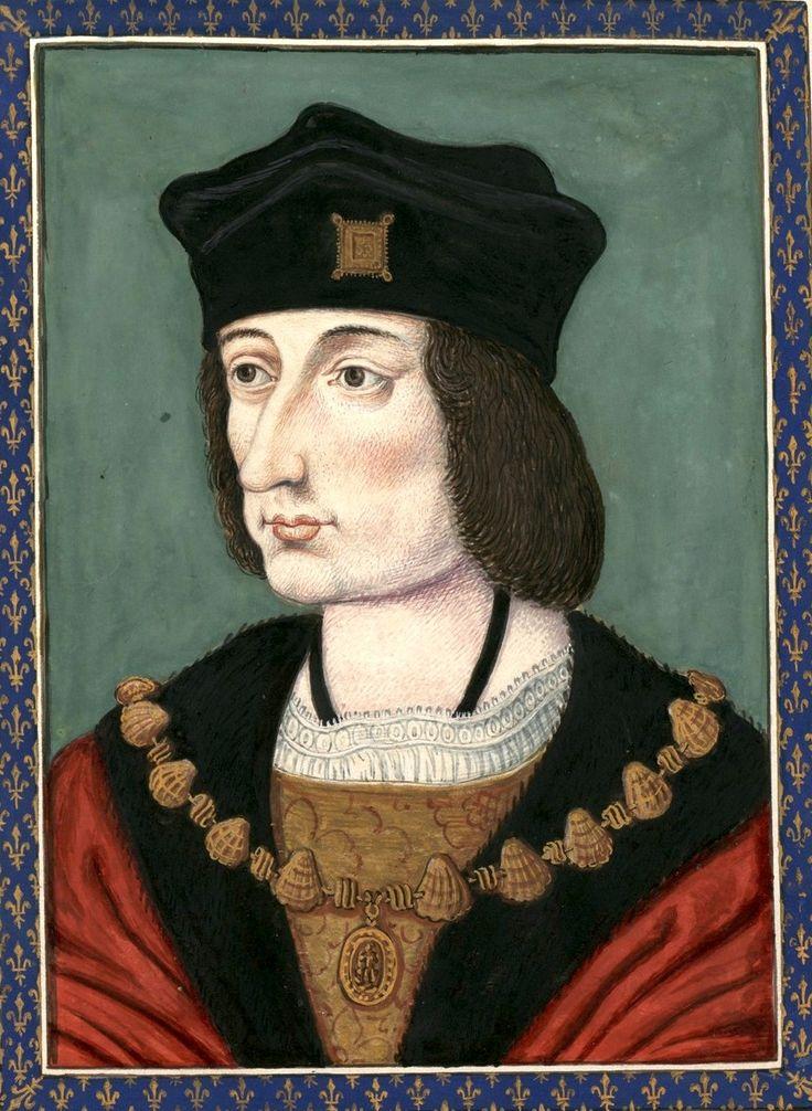 Charles VIII, roi de France, †1498. Dessin d'un portrait original (?au Musée de Versailles) (Gaignières 758).
