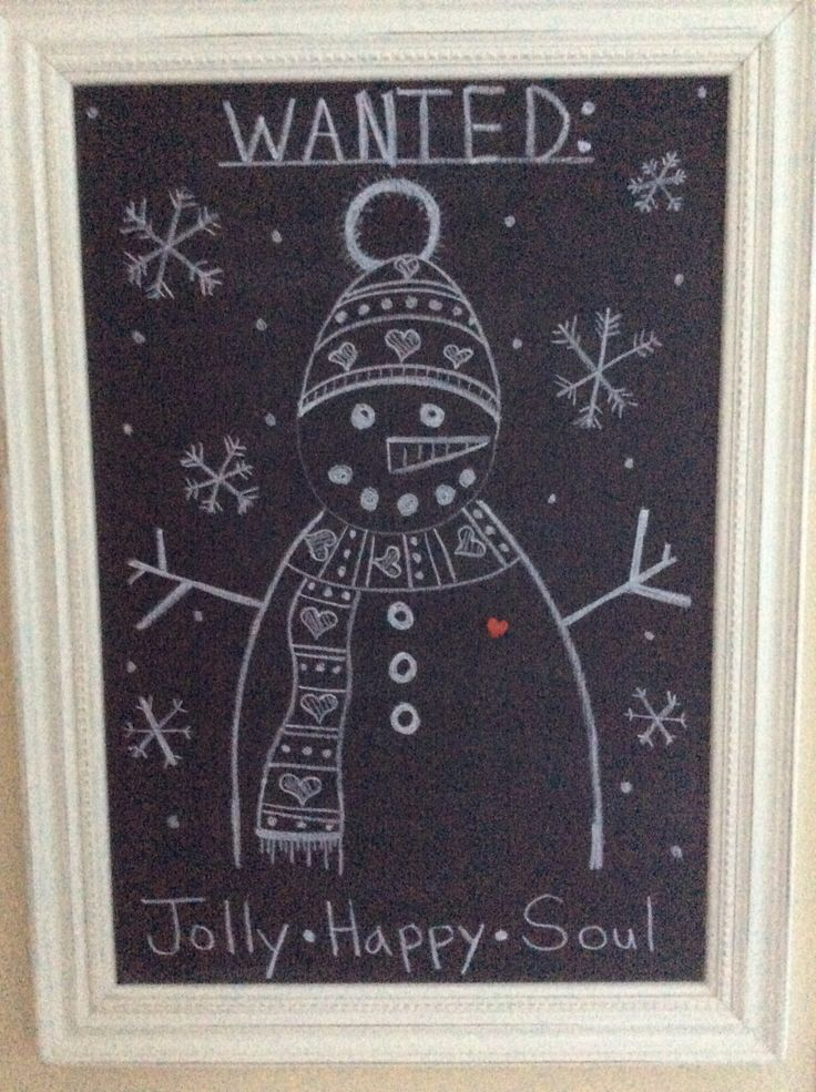 Chalkboard snowman