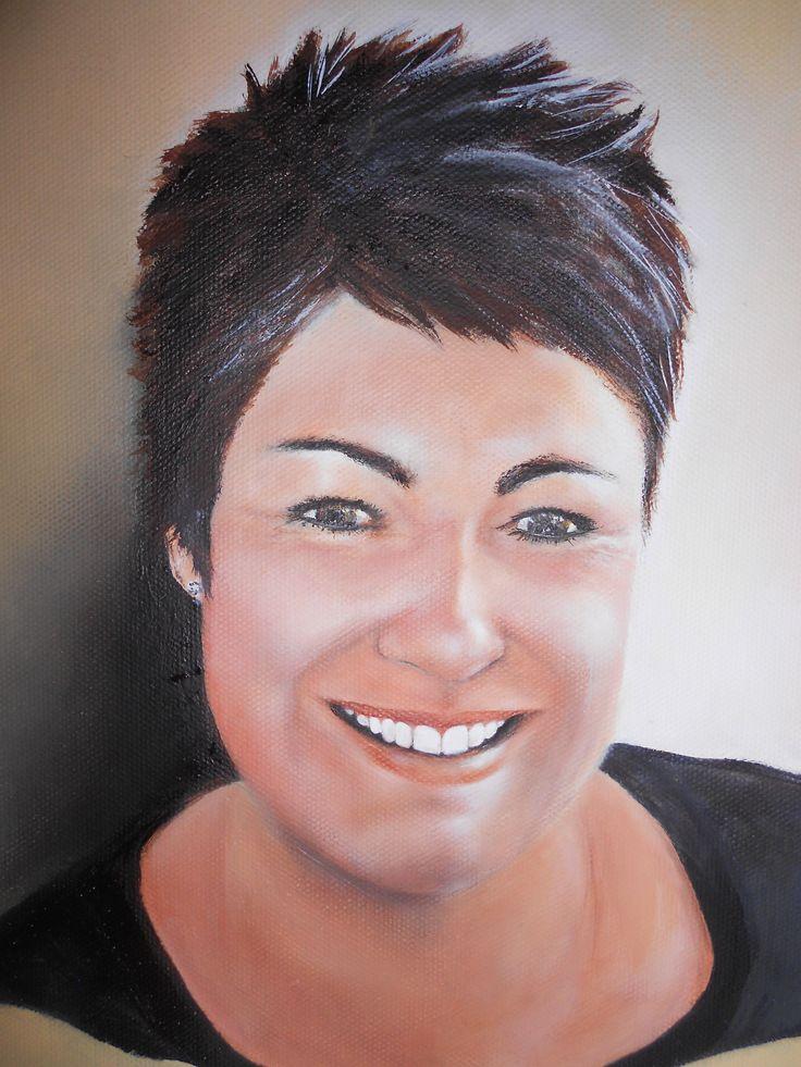 autoportrait...huile 2015