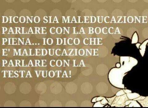 Maleducazione #citazioni #mafalda