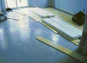 How to install hardwood flooring over asbestos tile without a floating subfloor.