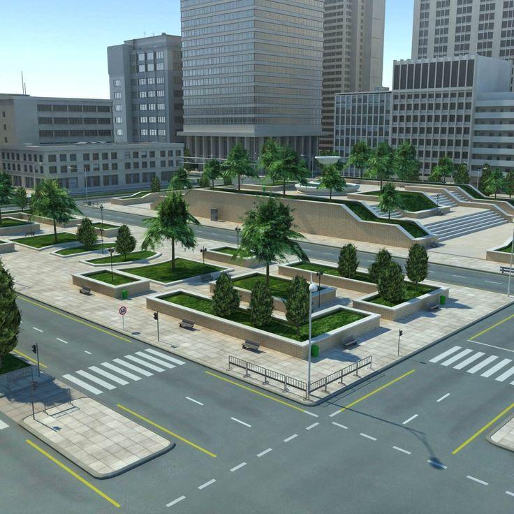 3D MODEL: https://www.turbosquid.com/3d-models/city-cityscape-3d-max/689438?referral=cermaka