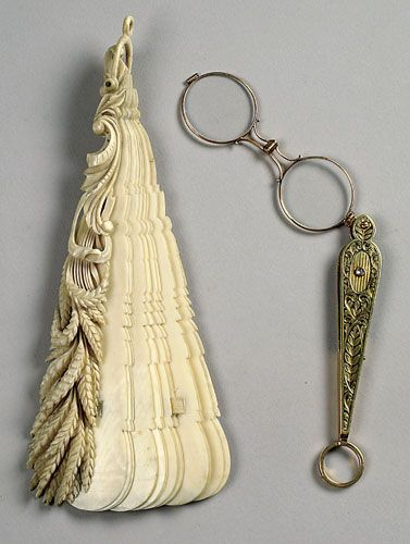 Lorgnette: the better to see you with beyotch! (with an Ivory fan to shoo you away)