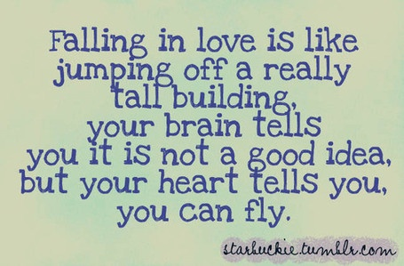<3Take Chances, Happy Thoughts, Fall Slowly, Lovequotes, Fall In Love, Leap Of Faith, In Love Quotes, True Stories, Girls Life
