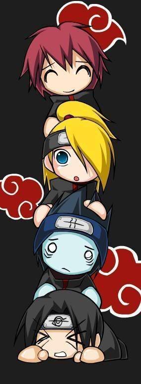 Sasori, Deidara, Kisame and Itachi /Naruto SH. #Akatsuki