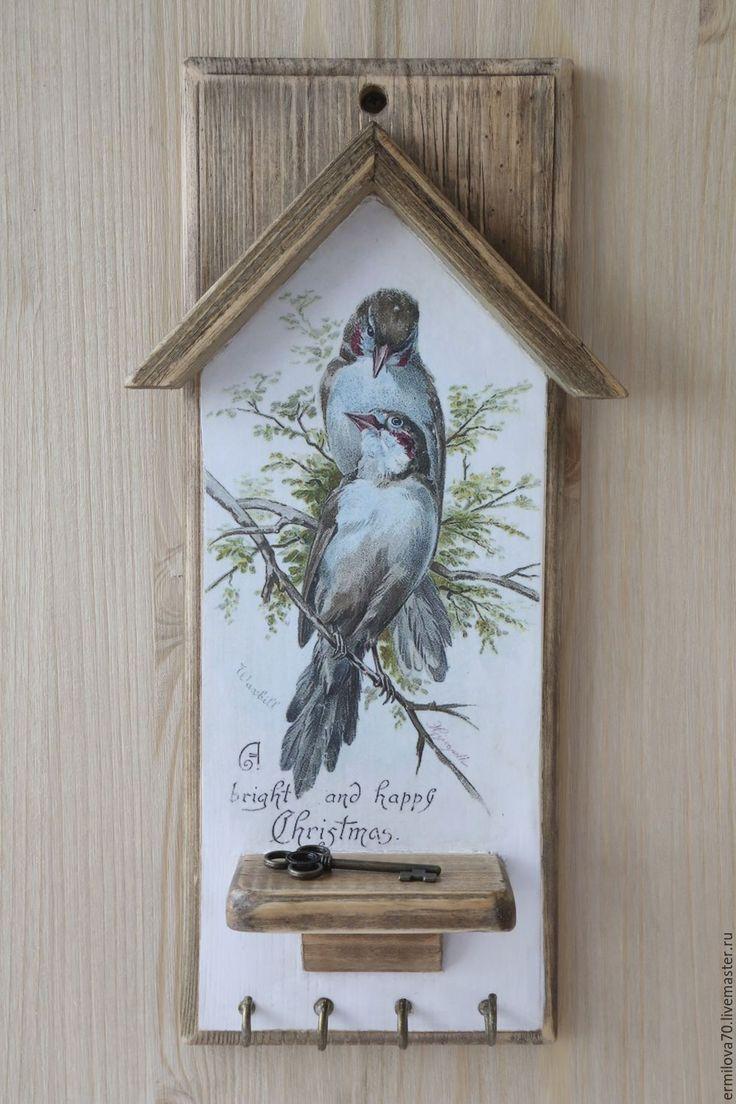 """Купить Ключница """"Птицы"""" - ключница, для прихожей, птицы, птицы на ветке, для…"""