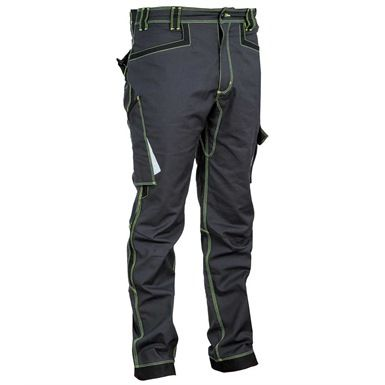 These Cofra V482 Montijo work trousers/pants are made of 100% stretch fabric and feature a reinforced crotch and elasticated waist. There's also plenty of pockets and loops to keep your tools close to hand.