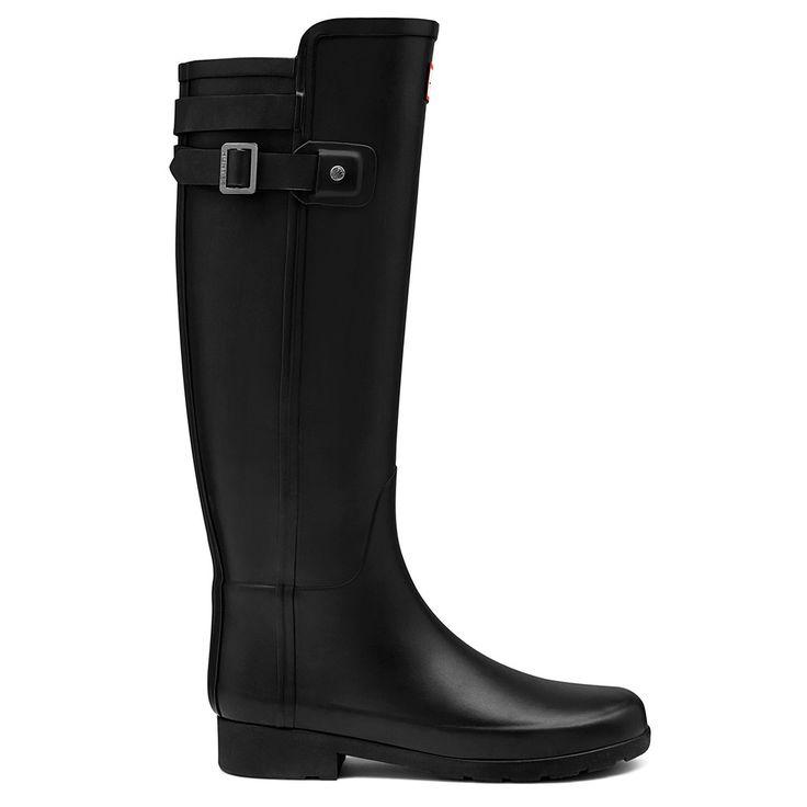 Refined Back Strap Tall - Black – Hunter Boots Australia