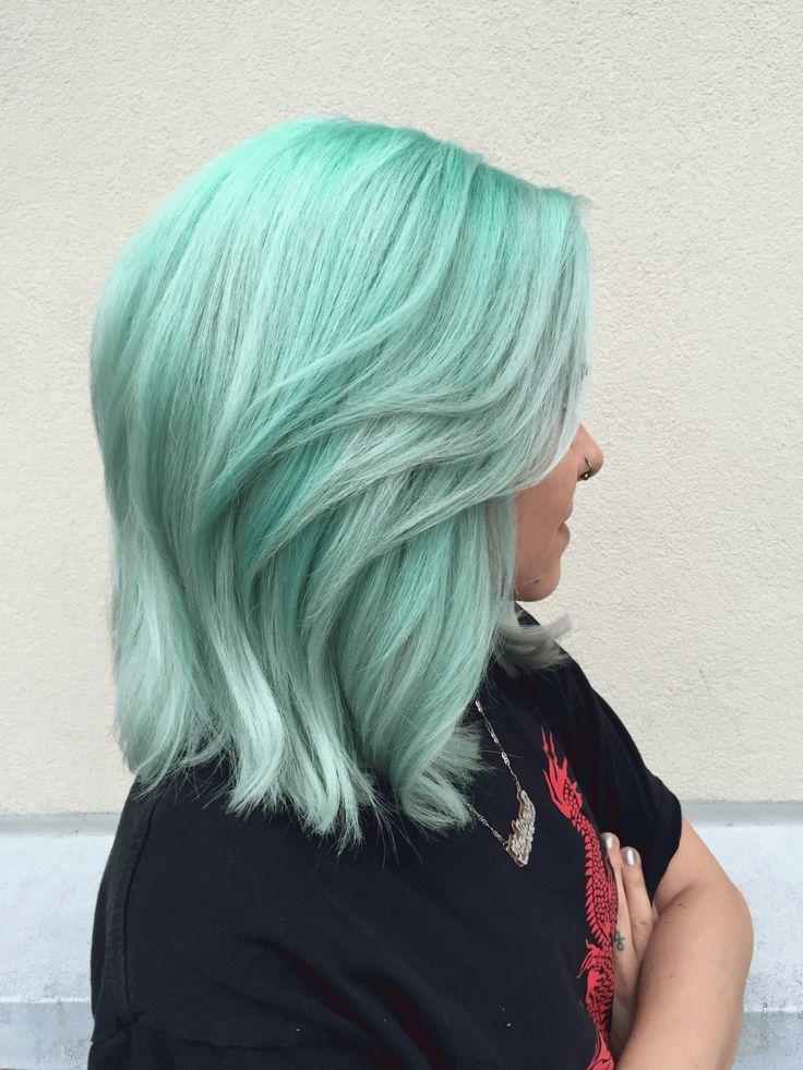 Best 25 Mint Hair Color Ideas On Pinterest Pravana Hair