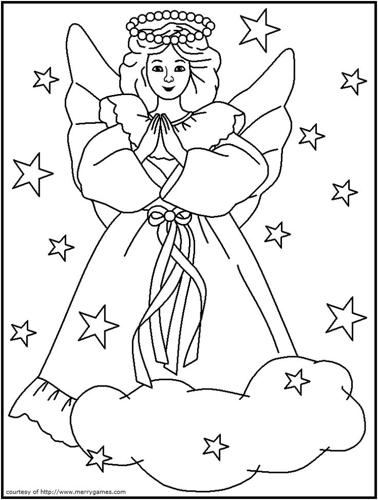 angel on a cloud coloring page catholicsam christmas coloring sheetschristian