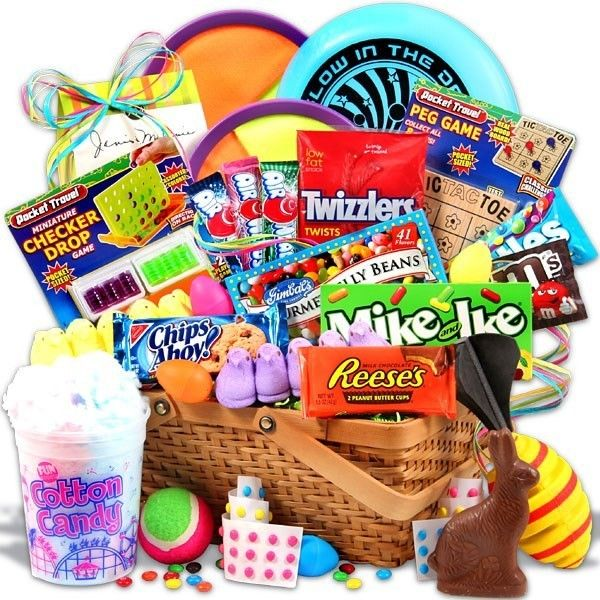 The 25 best pre made easter baskets ideas on pinterest kid easter candy and toys basket liked on polyvore featuring food food and drink negle Image collections
