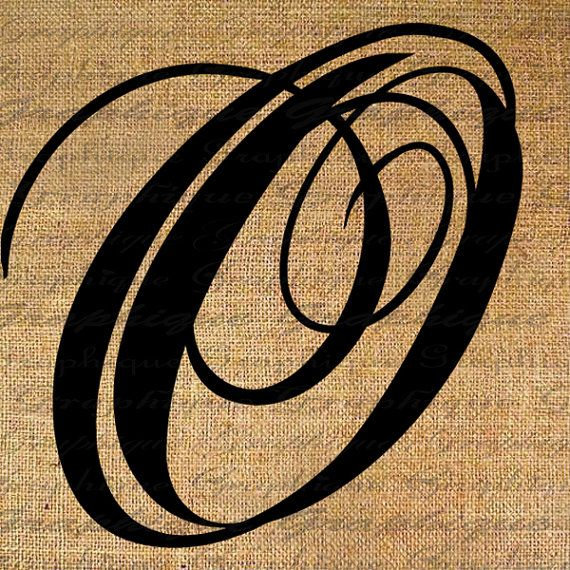 Monogram initial letter o digital collage sheet burlap for Letter o monogram