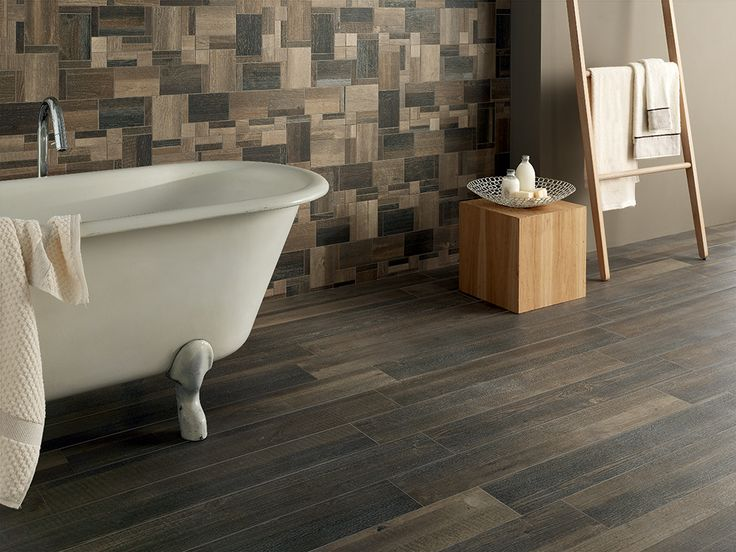 Cottage Wood  Brunito 15*90 Natural/Rectified Mosaico Random Mix 4 Color 35*35-14*14/Natural-Rectified