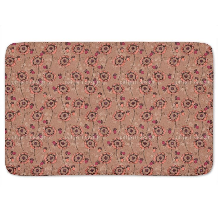 Uneekee Boheme Fantasyflowers Brown Bath Mat