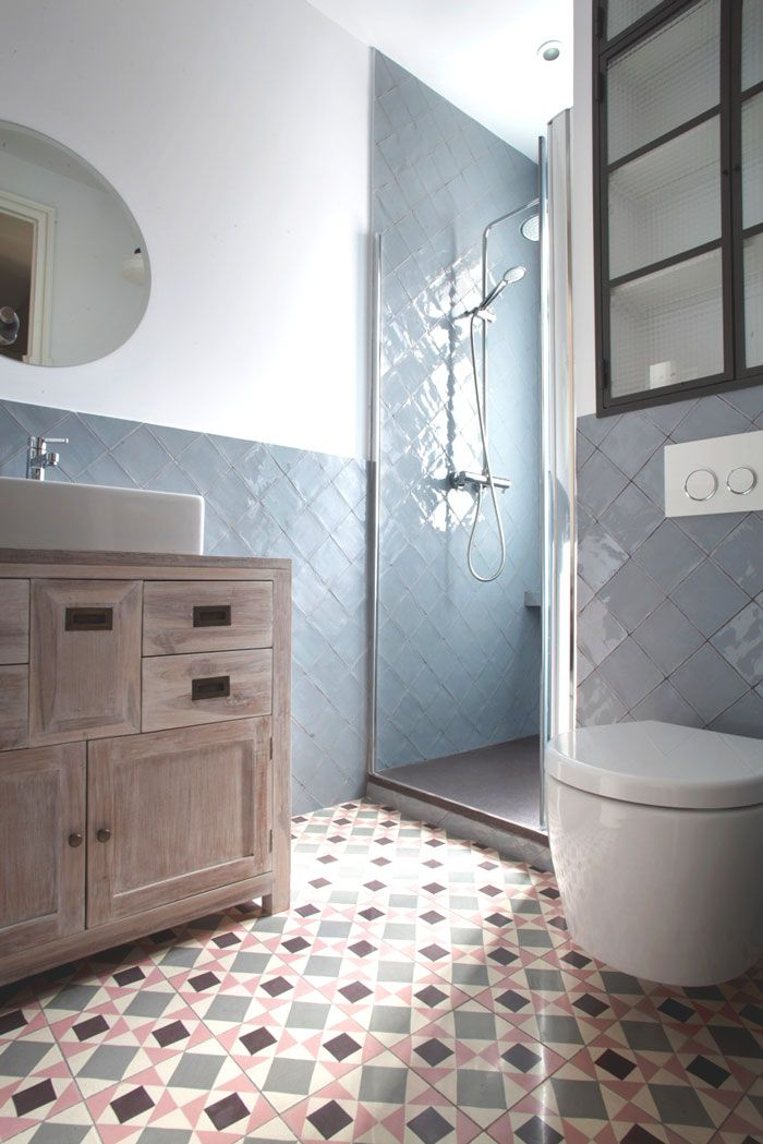 geometric funky bathroom tiles handmade in andalusia