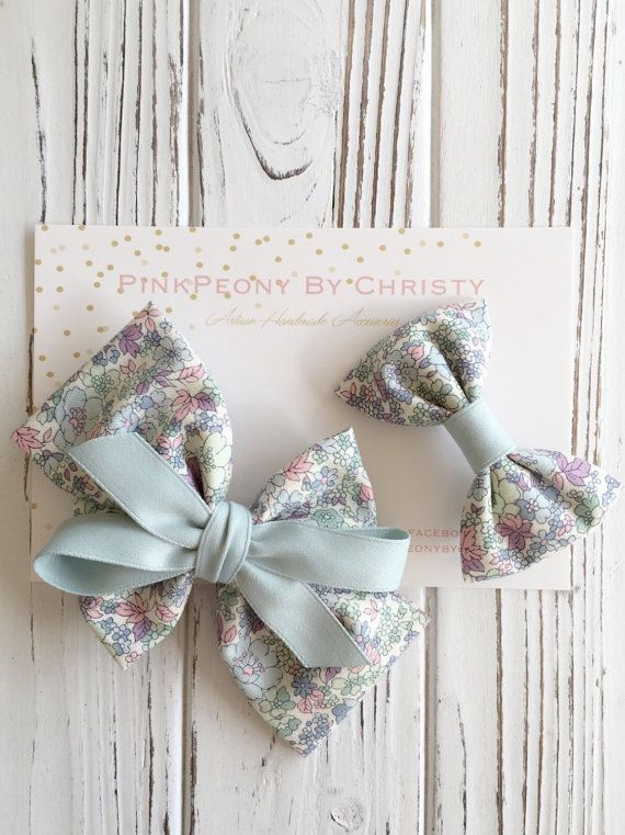 Hey, I found this really awesome Etsy listing at https://www.etsy.com/au/listing/236663673/set-of-two-pastel-floral-cotton-hairbow