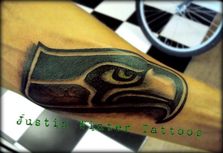 seattle seahawks tattoo by justin winter tacoma wa tattoos pinterest sweet awesome and. Black Bedroom Furniture Sets. Home Design Ideas