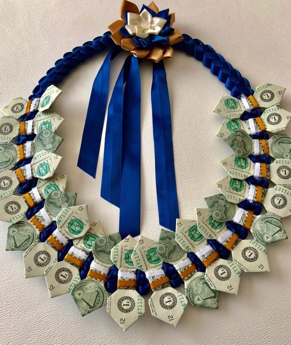 Graduation Wedding Birthday Hawaiian Money Lei Ori…