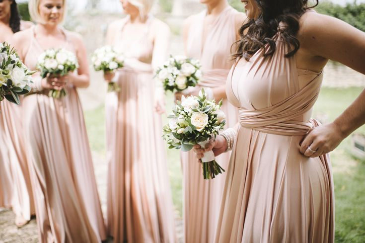 Rose Pink Twobirds Multiway Bridesmaid Dresses | Rose Gold Wedding Inspiration | Image by Ann-Kathrin Koch | http://www.rockmywedding.co.uk/you-and-me/