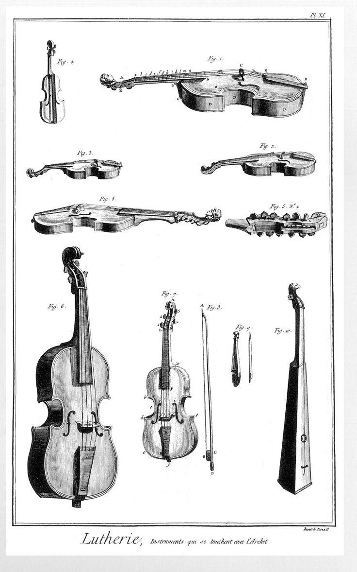 Instruments qui se touchent avec l'archet