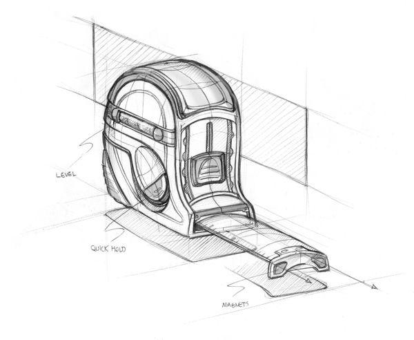 Design Sketchbook I - Tape measure sketch on Behance - Matt Seibert