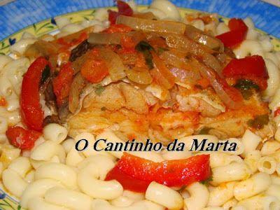 O Cantinho da Marta: Bacalhau Estufado com Pimentos