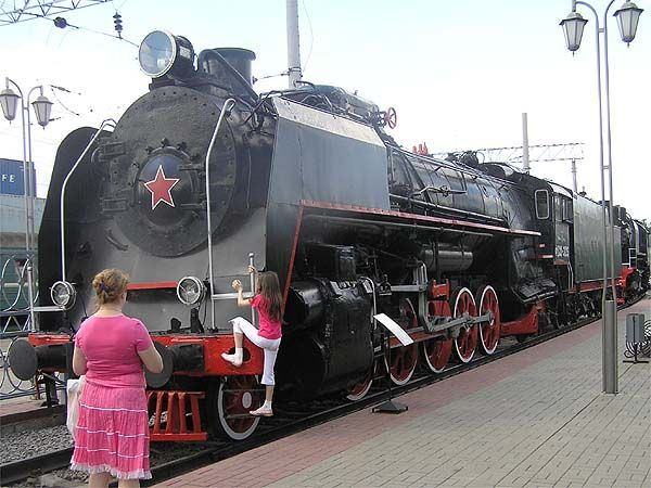 A FD21 locomotive built in 1941. The class was named after Felix Dzerzhinsky, the founder of the Cheka. The Richskaya (Moscow) Railway Museum