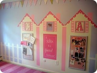 I plan on doing this in our daycare room with felt (via the Xmas Tree) for a felt doll house!