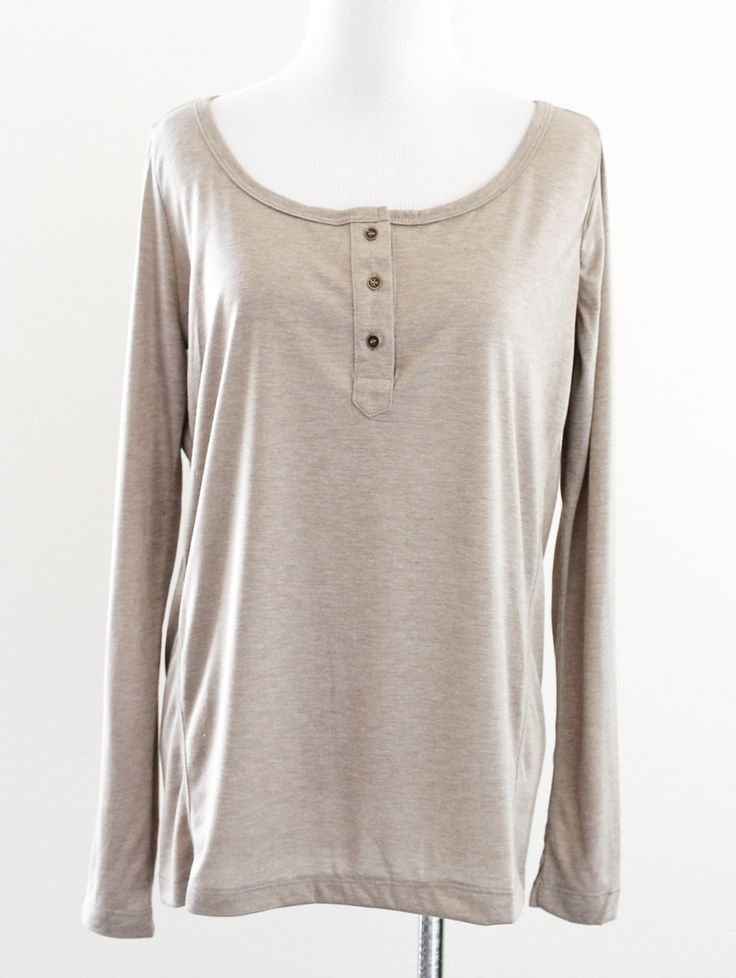 Tautmun - CESMA HENLEY TOP - TAUPE, $14.99 (http://www.tautmun.com/cesma-henley-top-taupe/)