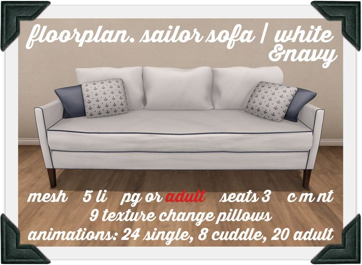 floorplan. sailor's sofa / white+navy | Flickr - Photo Sharing!