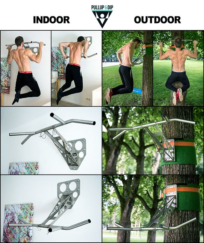World's first portable pullup and dip bar for your outdoor & indoor Freeletics, Calisthenics and other fitness workouts!