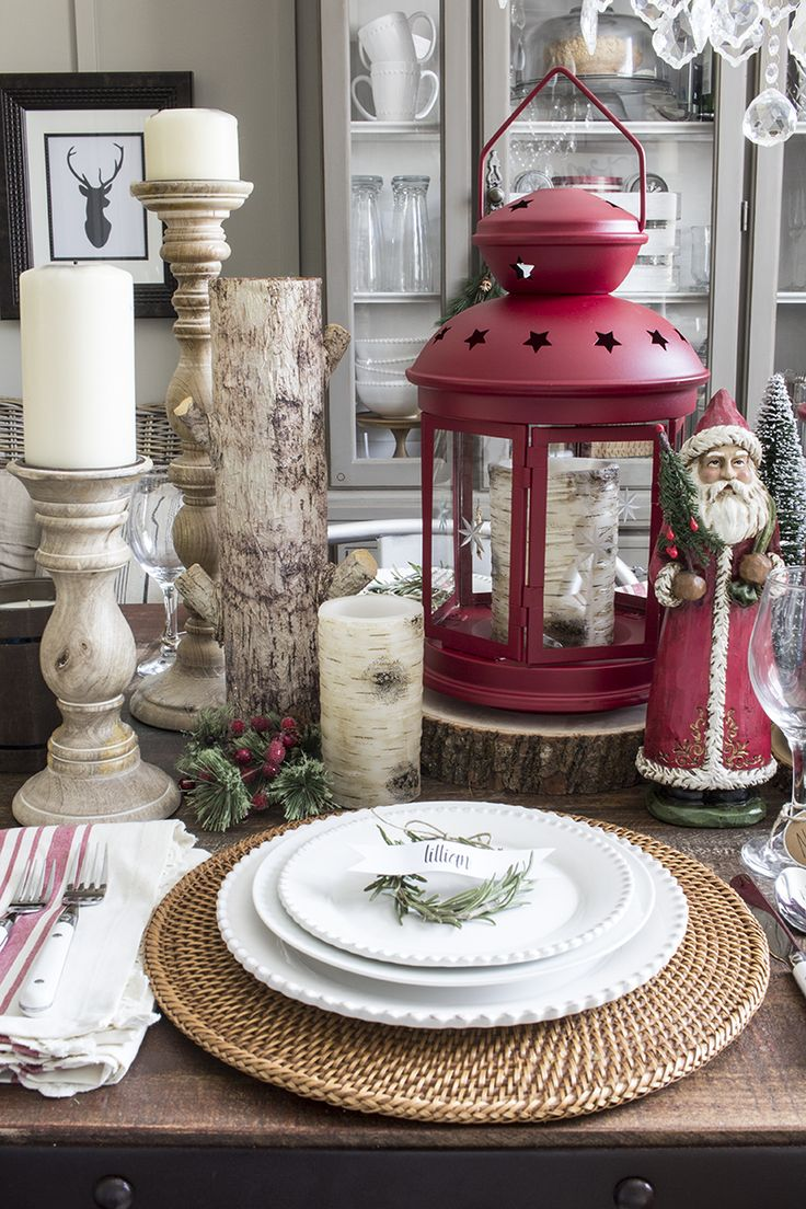 17 best ideas about christmas dining rooms on pinterest for Rustic home decor suppliers