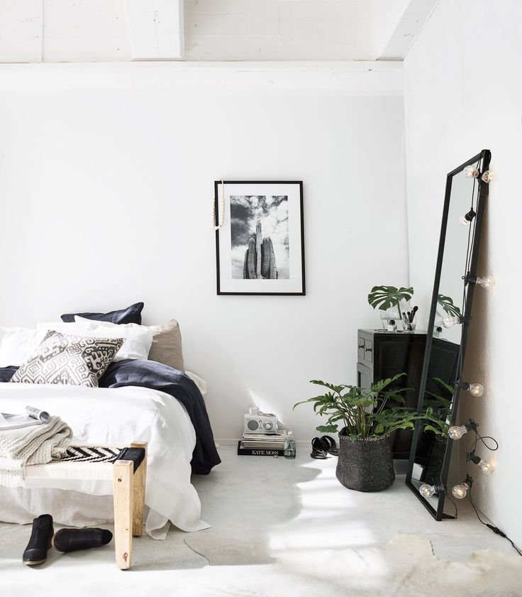 Les 25 meilleures id es de la cat gorie chambre ethnique for Minimalist black and white bedroom