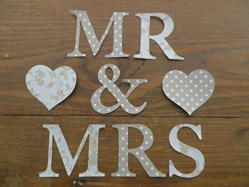 iron on applique 5 cm mr mrs letters natural vintage dotty and floral