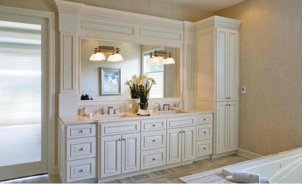 15 Traditional Tall Bathroom Cabinets Design