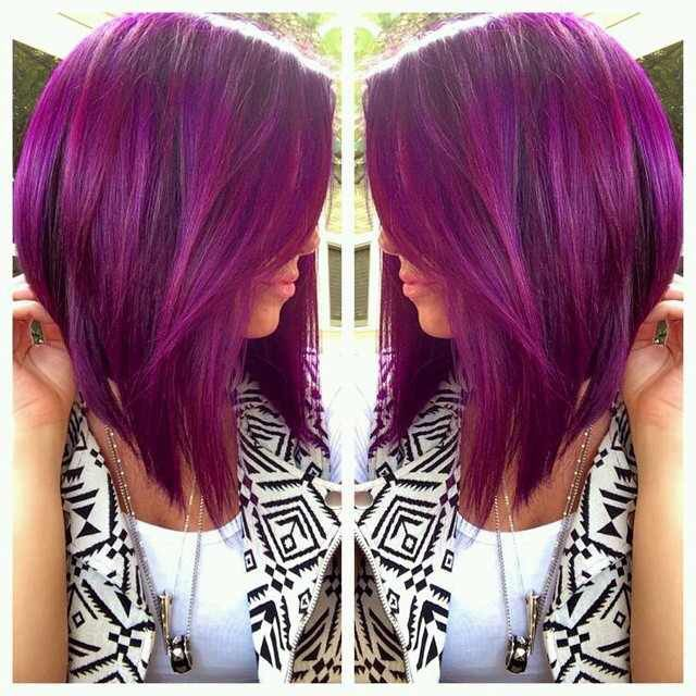 Image result for fuschia purple hair