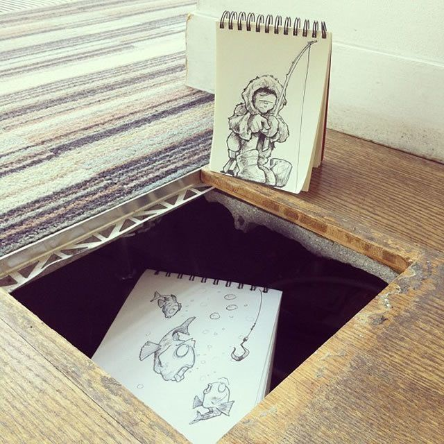 The Eskimo  18 Creative & Arty Cartoon Bomb Drawings That Will Leave You Amazed • Page 4 of 5 • BoredBug