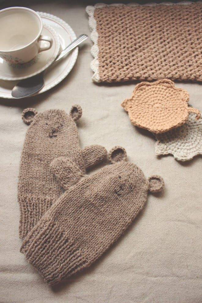 ♥ my little bear ♥ tricot gloves