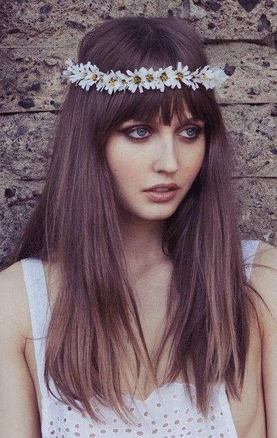 Eterie White Daisy Chain Flower Crown