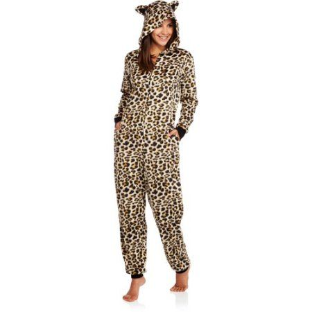 Body Candy Juniors Microfleece Sleepwear Adult Onesie Costume Union Suit Pajama with Critter Hood, Size: Small, Multicolor