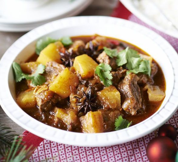 Give a warming winter stew an Asian-inspired twist with coriander, chilli and star anise, sweetened with chunks of juicy, fresh pineapple