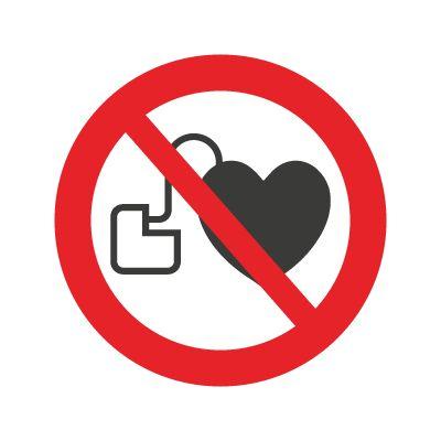 Ingen adgang for personer m/pacemaker - Køb forbudsskilte