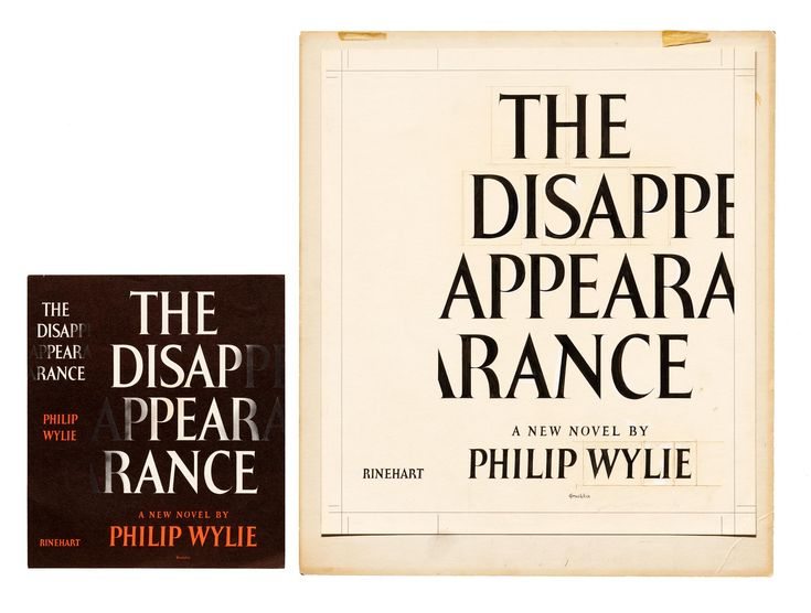 """Philip Grushkin, jacket for """"The Disappearance"""""""