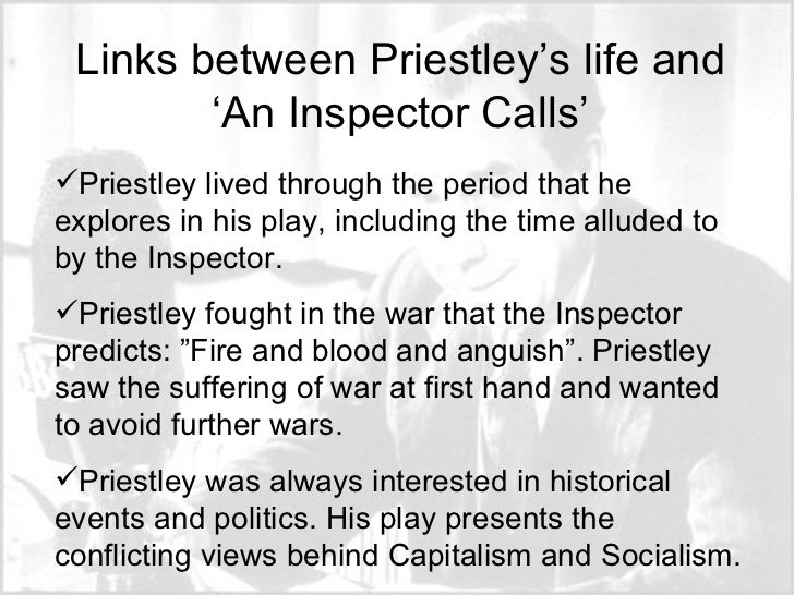 an analysis of the topic of the inspector calls An inspector calls  how to write literary analysis suggested essay topics  what would it mean for the same inspector to come back and ask these questions .