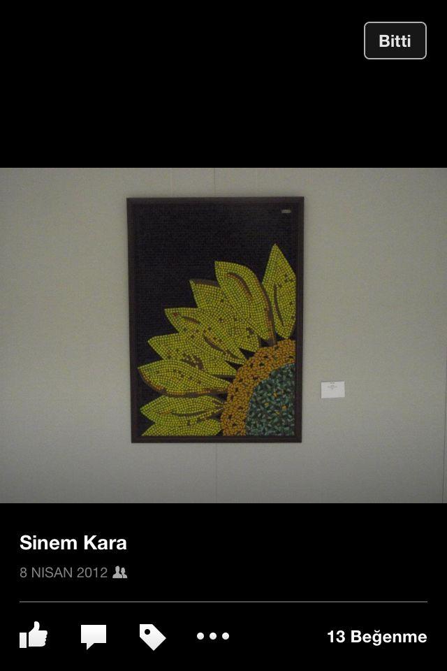 Yellow flower mosaic