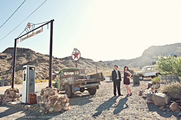 We're definitely utilizing one of the many ghost towns around Las Vegas for our engagement photo session!