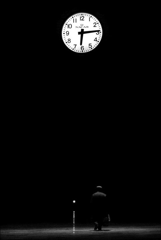 """Amy Coady Photo by Hussein Turkish. Title: """"Time Regulation Institute...the watch itself, space, walking time, setting human..."""""""