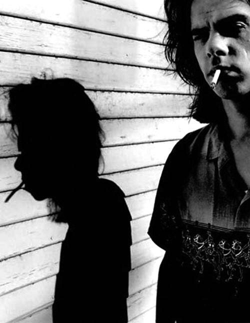 An Anton Corbijn shot: Nick Cave and his shadow